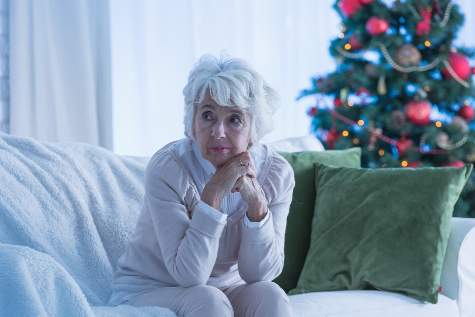 Woman under stress during holidays