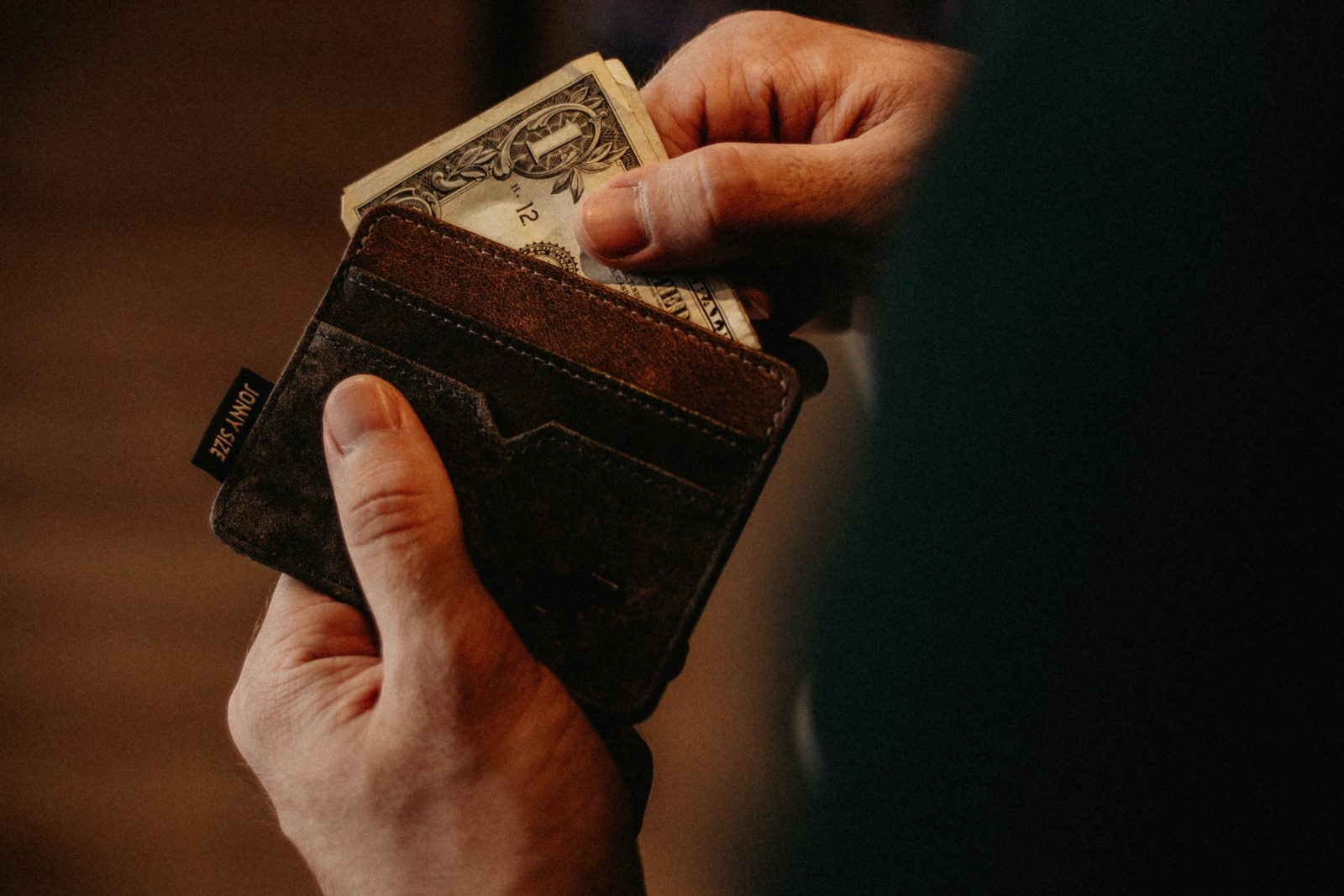 Photo of money removed from wallet